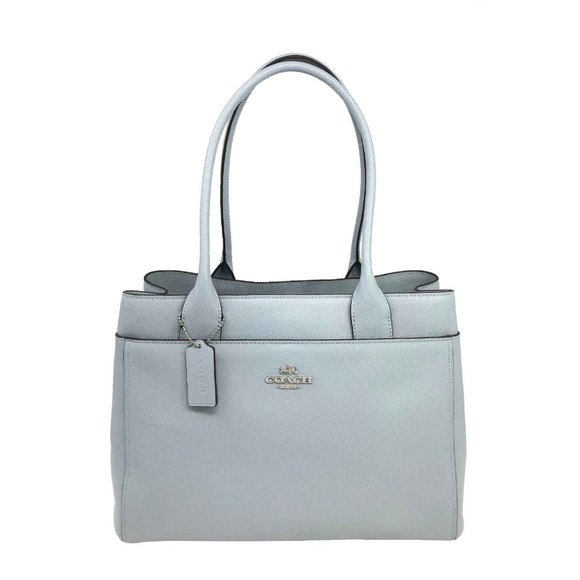 77763d85bb Coach Casey Tote In Pale Blue Crossgrain Leather